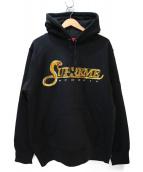 Supreme(シュプリーム)の古着「スパンコールロゴプルオーバーパーカー」|ブラック×ゴールド