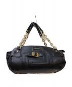 VERSACE(ヴェルサーチ)の古着「チェーンレザーハンドバッグ」|ブラック