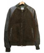 BEAMS×EMMETI(ビームス×エンメティ)の古着「別注ムートンダウンMA-1ジャケット」|カーキ×グリーン