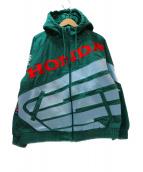Supreme×HONDA×FOX RACING(シュプリーム×ホンダ×フォックスレーシング)の古着「トリプルコラボワークジャケット」|グリーン×ブルー