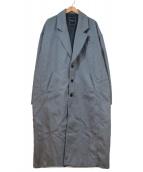 UNRELAXING(アンリラクシング)の古着「ビッグシルエットチェスターコート」|グレー