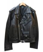 HORN WORKS(ホーンワークス)の古着「バッファローレザージャケット」|ブラック