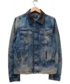DIESEL(ディーゼル)の古着「カラー切替デニムジャケット」|インディゴ×ブラック