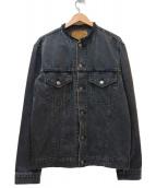 orSlow×B-SHOP(オアスロウ×ビショップ)の古着「別注ノーカラーデニムジャケット」 ブラック