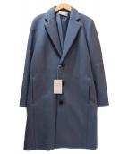 LIDnM(リドム)の古着「SUPER100sチェスターコート」 ダスティーブルー