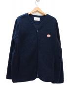 Vincent et Mireille(ヴァンソンエミレイユ)の古着「ボアジャケット」|ネイビー