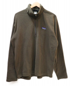 Patagonia(パタゴニア)の古着「ハーフジップフリースジャケット」|ブラウン