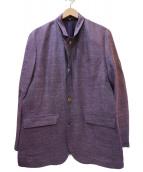LANVIN COLLECTION(ランバンラコレクション)の古着「ジップコート」|パープル