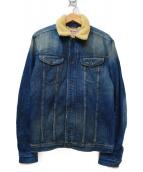 DIESEL(ディーゼル)の古着「ランチジャケット」|ブルー×アイボリー