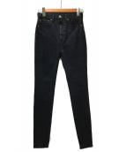 moussy(マウジー)の古着「スキニーデニムパンツ」|ブラック