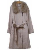 Apuweiser-riche(アプワイザーリッシェ)の古着「襟ファー4WAYコート」 ピンク