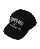 Supreme(シュプリーム)の古着「スナップバックロゴキャップ」 ブラック×ホワイト