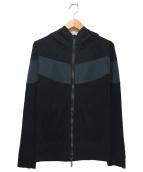 Francis T MOR.K.S(フランシストモークス)の古着「カモ柄ジップパーカー」|ブラック