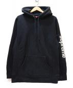 Supreme(シュプリーム)の古着「プルオーバーパーカー」|ブラック×ホワイト