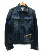 DIESEL(ディーゼル)の古着「VNTG加工デニムジャケット」|インディゴ