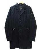 Denham(デンハム)の古着「スリーブロゴチェスターコート」|グレー