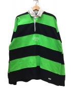 GUESS JEANS(ゲスジーンズ)の古着「ルーズラガーシャツ」|グリーン×ブラック