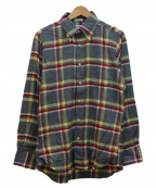 INDIVIDUALIZED SHIRTS(インディビジュアライズドシャツ)の古着「チェックシャツ」|グレー
