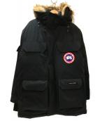 CANADA GOOSE(カナダグース)の古着「フーデッドダウンコート」|ブラック×ベージュ