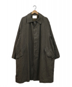 BAYFLOW(ベイフロー)の古着「ビッグサイズドステンカラーコート」|カーキ