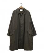 BAYFLOW(ベイフロー)の古着「ビッグサイズドステンカラーコート」 カーキ