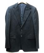 GUCCI(グッチ)の古着「ヘビーコットンテーラードジャケット」|ブラック