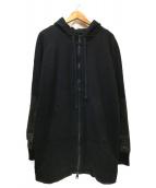 DRIFTER(ドリフター)の古着「切替ロングジップパーカー」|ブラック