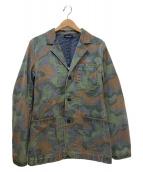 Denham(デンハム)の古着「カモ柄コットンテーラードジャケット」|グリーン×ベージュ