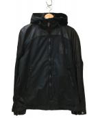 DIESEL(ディーゼル)の古着「コーティングフーデッドジャケット」|ブラック