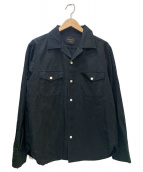 BY GLAD HAND(バイグラッドハンド)の古着「Beau Gladden Open Collar L/S S」|ブラック