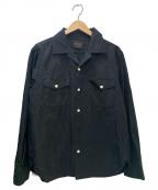 BY GLAD HAND(バイグラッドハンド)の古着「コットンオープンカラーシャツ」|ブラック