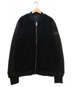DIESEL(ディーゼル)の古着「リバーシブルボアブルゾン」|ブラック