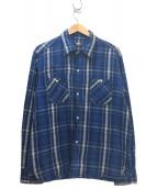 RATS(ラッツ)の古着「ヘビーコットンチェックネルシャツ」 ブルー×ホワイト