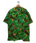 stussy(ステューシー)の古着「オープンカラーシャツ」|グリーン×ピンク