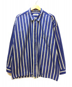 MONKEY TIME(モンキータイム)の古着「STRIPE SHIRT JACKET 」|ブルー