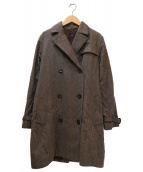 A.P.C.(アーベーセ)の古着「ダブルウールコート」|ブラウン