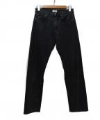 toteme(トーテム)の古着「ウォッシュオリジナルデニムパンツ」|ブラック