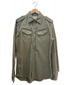 DIESEL(ディーゼル)の古着「ミリタリーシャツ」 カーキ