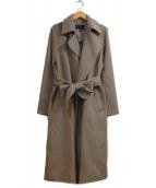 icB(アイシービ)の古着「Wool Rever トレンチ型コート」|ベージュ