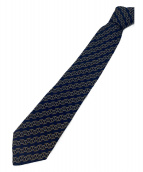 HERMES(エルメス)の古着「総柄ネクタイ」|ネイビー×グレー