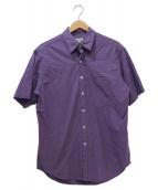 STEVEN ALAN(スティーヴンアラン)の古着「半袖ルーズコットンシャツ」|パープル