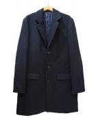 A.P.C.(アーベーセ)の古着「ウールメルトンドロップチェスターコート」|ネイビー