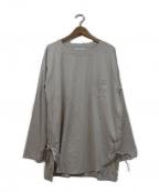 THEE(シー)の古着「サイドスリットロングTシャツ」|アイボリー