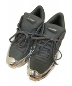 adidas originals×Raf Simons(アディダス オリジナル × ラフシモンズ)の古着「コラボローカットスニーカー」|グレー×シルバー
