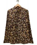 Paul Smith COLLECTION(ポールスミスコレクション)の古着「フラワープリントシャツ」 ブラウン×アイボリー