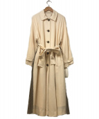 Mila Owen(ミラオーウェン)の古着「バックプリーツトレンチコート」|ホワイト