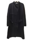 HELMUT LANG(ヘルムートラング)の古着「ライダーストレンチウールコート」|ブラック