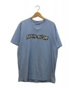 Fucking Awesome(ファッキンオーサム)の古着「ロゴプリントTシャツ」|スカイブルー×ホワイト