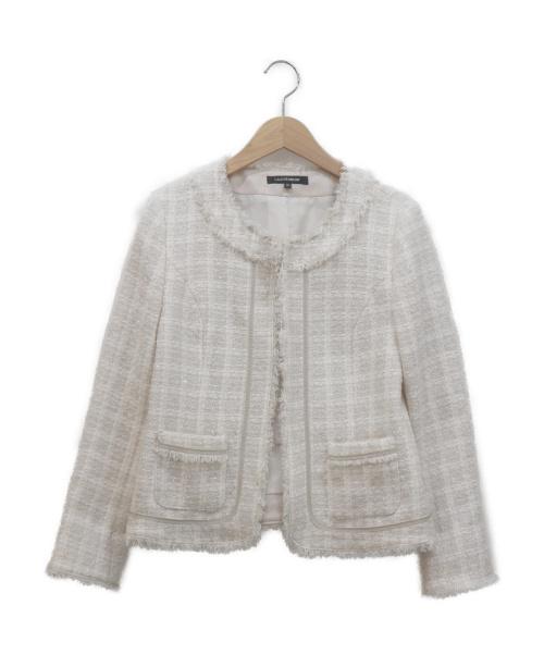 LAUTRE AMONT(ロートレアモン)LAUTRE AMONT (ロートレアモン) ファンシーツイードジャケット ベージュ サイズ:38の古着・服飾アイテム