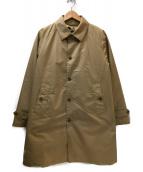 BEAMS(ビームス)の古着「ダウンライナー付ステンカラーコート」 ブラウン
